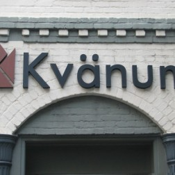 large scale dimensional letters and logo