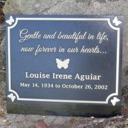 Custom cast bronze commemorative plaque