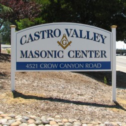 Castro Valley Monument Sign