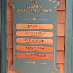 Putney FInancial Group Directory Sign