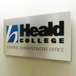 heald college interior sign
