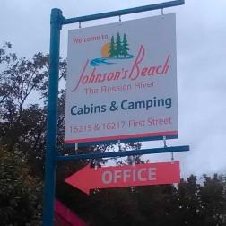 Johnson's Beach Resort Pole Sign