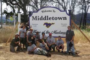 Middletown Sign Project Crew